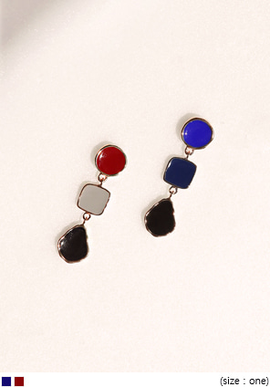 [JEWELRY] AIM COLOR MIX SHAPE EARRING