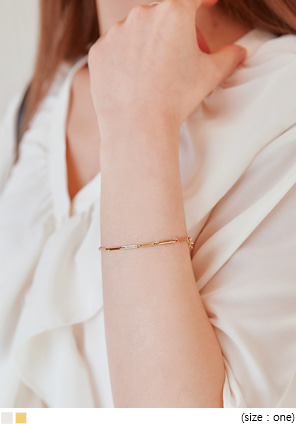 [JEWELRY] STUMP STICK BAR BRACELET