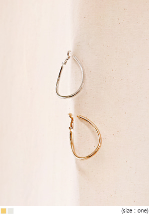 [JEWELRY] CURVE ONE TOUCH BOLD EARRING
