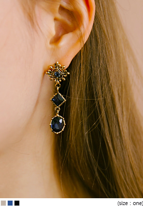 [JEWELRY] ENTIC 3 CUBIC DROP EARRING
