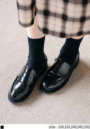 [SHOES] DAILY BLACK LOAFER
