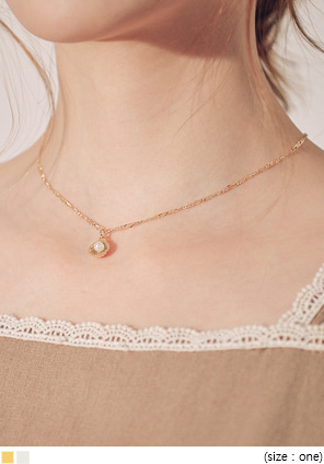 [JEWELRY] PEARL SHELL PENDANT NECKLACE