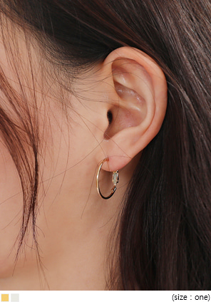 [JEWELRY] BASIC METAL MINI HOOP EARRING