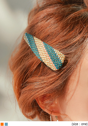 [ACC] ELMUD RATTAN COLOR HAIR PIN