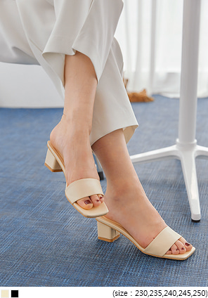 [SHOES] GELINA SQUARE MIDDLE HEEL