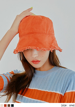 [ACC] MULLET FRINGE POINT BUCKET HAT