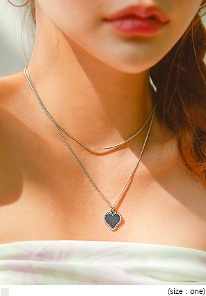 [JEWELRY] HEART CHAIN LAYERED NECKLACE