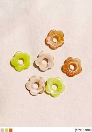 [JEWELRY] DIO FLOWER MARBLING EARRING