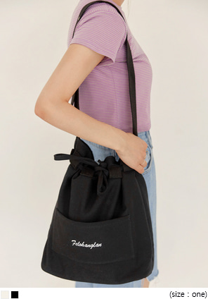 [BAG] CLETA LETTERING BUCKET BAG