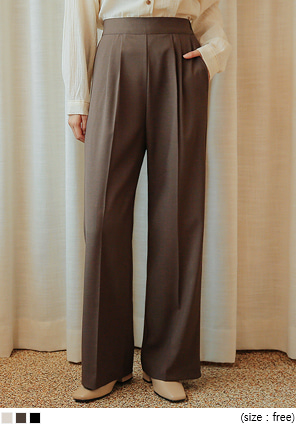 [BOTTOM] GROZNY SIDE ZIPPER WIDE SLACKS