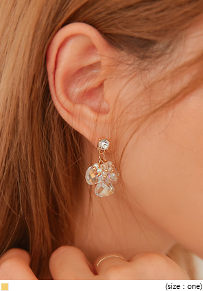 [JEWELRY] HARMONY CRYSTAL DROP EARRING