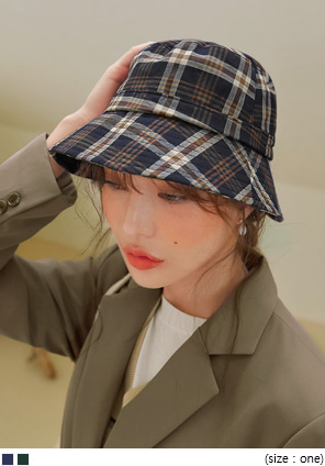 [ACC] VINTAGE CHECK BUCKET HAT