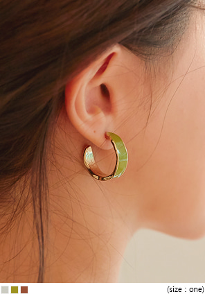 [JEWELRY] HASWELL COLOR RING EARRING