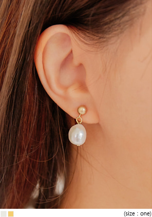 [JEWELRY] LUMA PEARL DROP EARRING