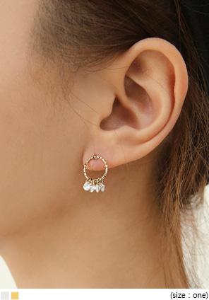 [JEWELRY] SIMPLE CUBIC DROP EARRING