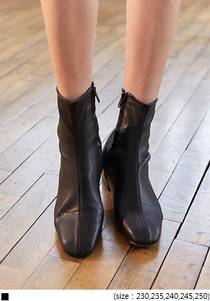 [SHOES] SMOOTH SLIM FIT ANKLE BOOTS