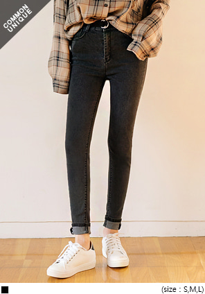 [BOTTOM] HIGH WAIST DENIM SKINNY