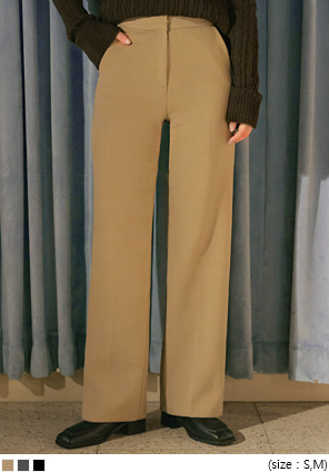 [BOTTOM] SIMPLE HIGH STRAIGHT SLACKS