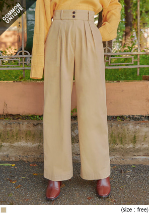 [BOTTOM] ROTER PINTUCK COTTON WIDE PANTS