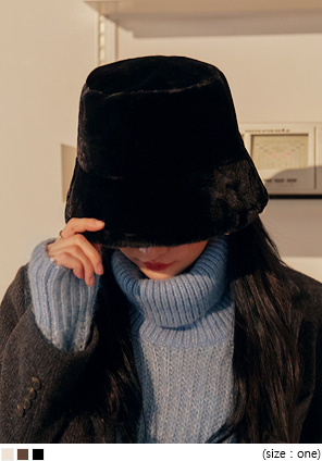 [ACC] POLLEND FUR BUCKET HAT