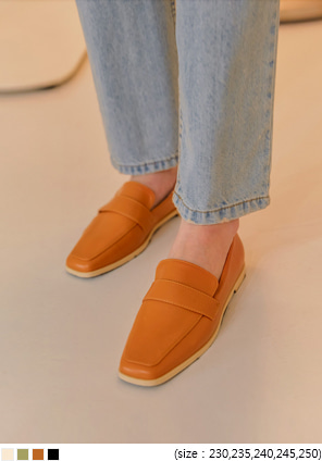 [SHOES] JIMMY SQUARE LEATHER LOAFER