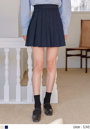 [SKIRT] HUBERT COTTON PLEATS MINI SKIRT