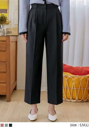 [BOTTOM] CELITTE PINTUCK WIDE SLACKS
