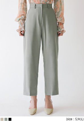 [BOTTOM] JUCY WOOL BASIC WIDE SLACKS