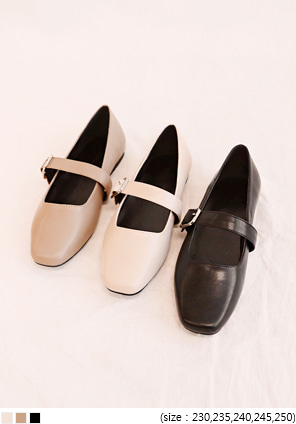 [SHOES] DUFFY MARY-JANE FLAT SHOES