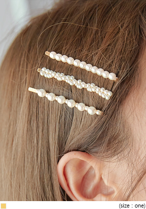 [ACC] 3 TYPE LADY PEARL HAIR PIN SET