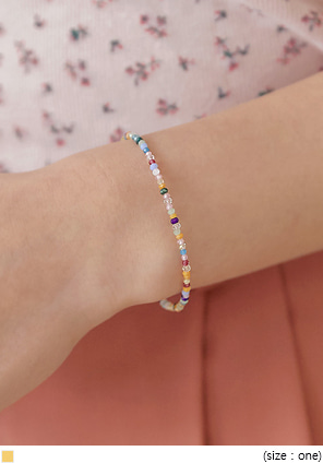 [JEWELRY] BERON COLOR BEADS BRACELET