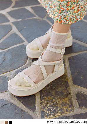 [SHOES] NED STRAP PLATFORM SANDAL