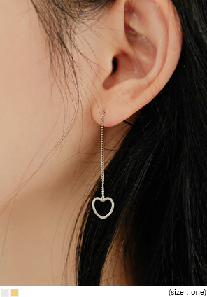 [JEWELRY] PIGLE HEART DROP EARRING