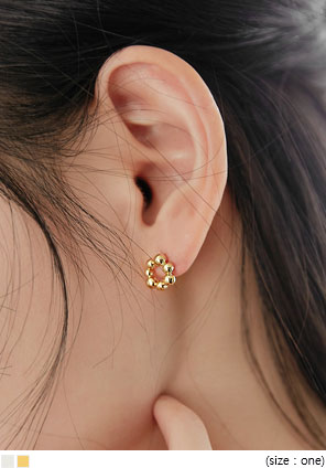 [JEWELRY] DONUT SIMPLE BALL EARRING
