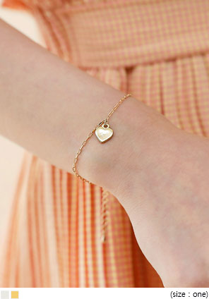 [JEWELRY] ATTO HEART CHAIN BRACELET
