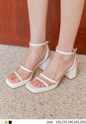 [SHOES] RUMING STRAP SANDAL HEEL