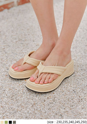 [SHOES] PLATFORM FLIP FLOP SLIPPER - 2 TYPE