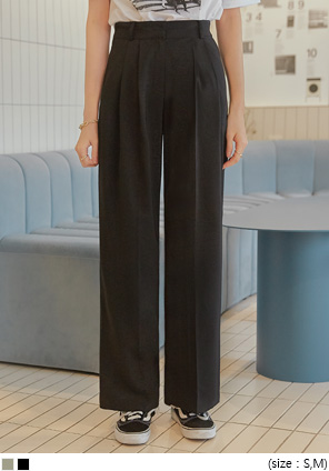 [BOTTOM] MIROTY PINTUCK WIDE SLACKS