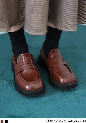 [SHOES] SERENT SQUARE PENNY LOAFER