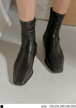 [SHOES] FLOW SQUARE WESTERN ANKLE BOOTS
