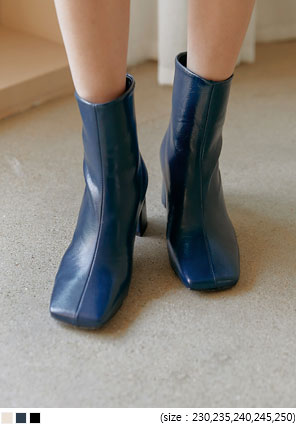 [SHOES] LEOND SQUARE ANKLE BOOTS