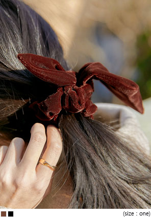 [ACC] SELIS VELVET RIBBON HAIR STRING
