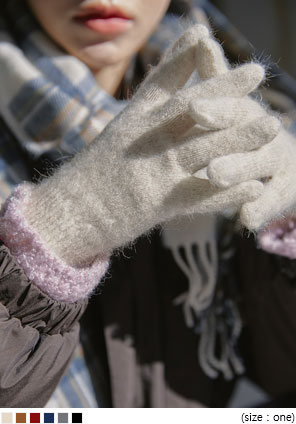 [ACC] LIZNER ANGORA WOOL 40% SIMPLE GLOVE