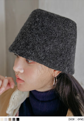 [ACC] TELLO WARM KNIT BUCKET HAT