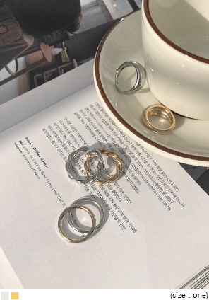 [JEWELRY] FORNARD LAYERED RING 3 SET