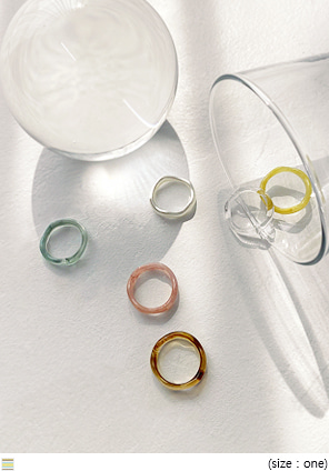 [JEWELRY] AOUND WAVE MULTI RING 6 SET