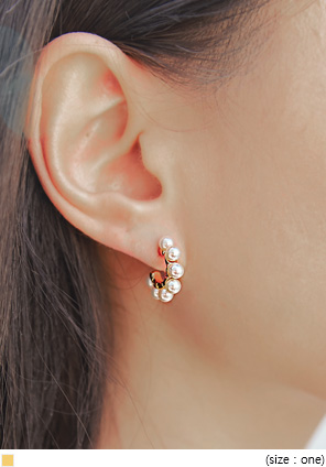 [JEWELRY] LEANA PEARL GOLD RING EARRING