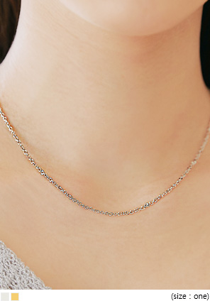 [JEWELRY] BLEO CUTING CHAIN NECKLACE