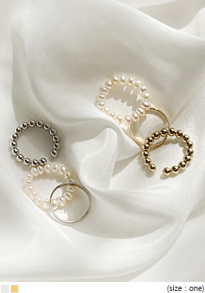 [JEWELRY] TENA PEARL LAYERED RING 3 SET
