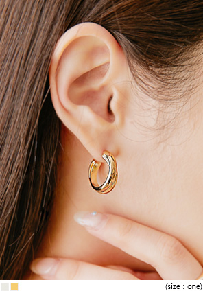 [JEWELRY] LEDIN DOUBLE BOLD RING EARRING